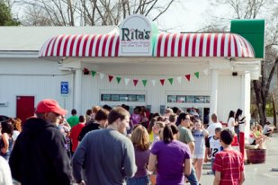 Hungry patrons eagerly await their custard and Italian Ice at Rita's (Photo courtesy of the Rita's Facebook page).