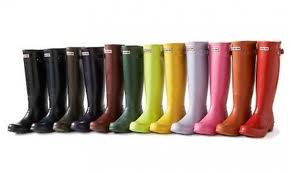 Hunter Rain Boots come in a variety of colors, so everyone sure to find the perfect pair (Photo courtesy of julep.com).