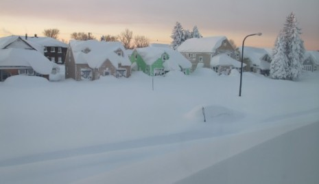 On Nov. 19, residents of Buffalo, NY were witnessed nearly 7 feet of snowfall (Photo courtesy of CNN).