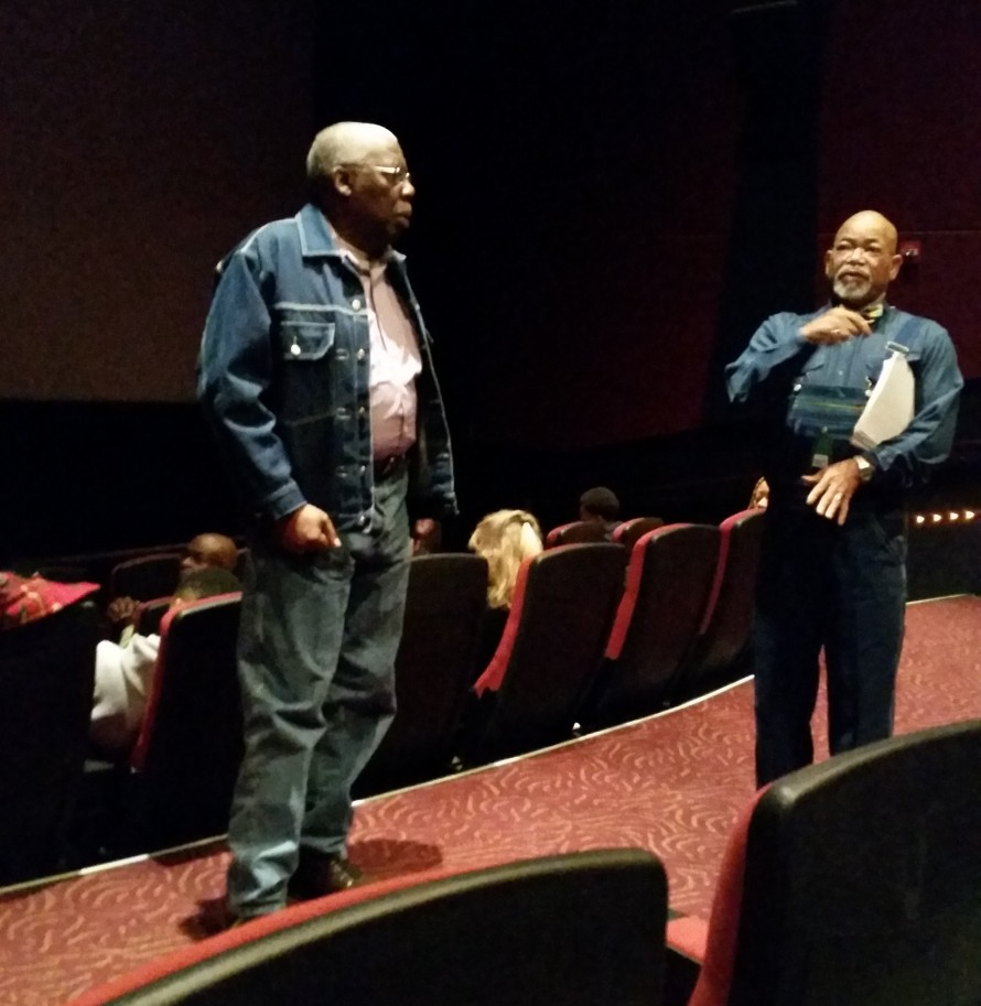 Guest speakers Bobby Cobbs (Left) and Phillip Hunter (Right) gather before the screening.