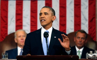 President Obama delivers his state of the union address.